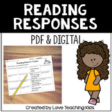 Reading Comprehension Menus- Response to Reading