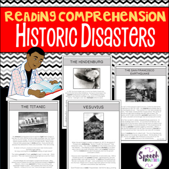 Reading Comprehension Passages: Historic Disasters