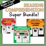 Reading Comprehension--Middle School Super Bundle