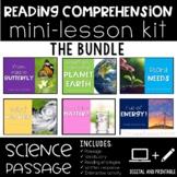 Reading Comprehension Mini Lesson for Digital Classrooms Science BUNDLE