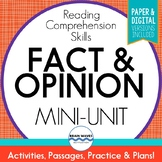 Fact and Opinion Passages, Sorts, & Graphic Organizers (Pr