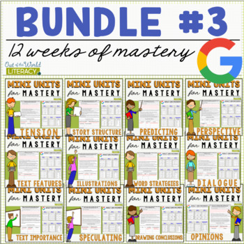 Reading Comprehension Mini Unit for Mastery- Growing Bundle #3