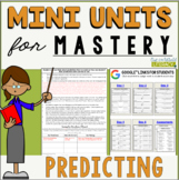 Reading Comprehension Mini Unit for Mastery- Making Predictions
