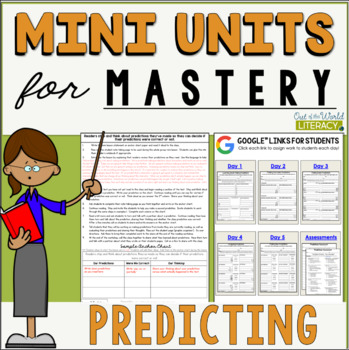 Reading Mini Unit for Mastery- Making Predictions | Distance Learning Ready