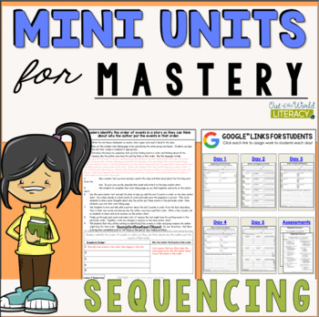 Reading Comprehension Mini Unit for Mastery- Sequencing