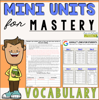 Reading Comprehension Mini Unit for Mastery- Vocabulary