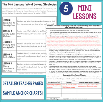 Reading Comprehension Mini Unit for Mastery- Word Solving Strategies