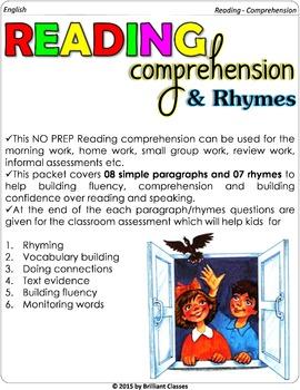 Reading Comprehension (NO PREP)