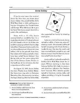 Reading Comprehension Nonfiction: Annie Oakley