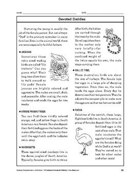 Reading Comprehension Nonfiction: Devoted Daddies