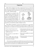Reading Comprehension Nonfiction: Fingerprints