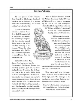 Reading Comprehension Nonfiction: Greyfriar's Bobby