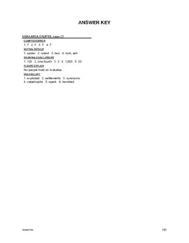 Reading Comprehension Nonfiction: Krakatoa Erupts