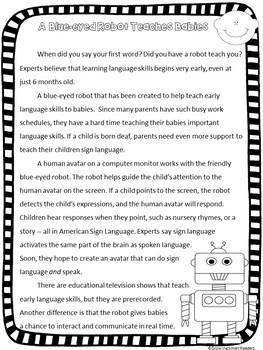 Reading Comprehension Nonfiction Passages