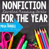 Leveled Nonfiction Reading Comprehension Passages Bundle