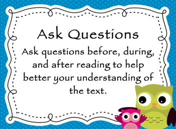 Reading Comprehension OWL Theme Posters