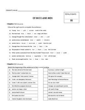 Reading Comprehension - Of Mice and Men (Penguin Readers)
