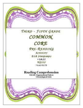 Reading Comprehension-Organizational Pattern