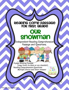 Reading Comprehension ~ Our Snowman