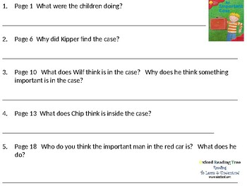 Reading Comprehension- Oxford Reading Tree Level 4 An Important Case