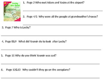 Reading Comprehension- Oxford Reading Tree Level 4 Lucky The Goat