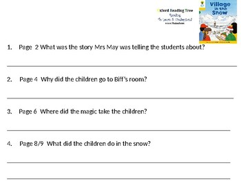 Reading Comprehension- Oxford Reading Tree Level 5 Village In The Snow
