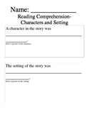 Reading Comprehension Pack for Kindergarten
