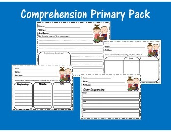 Reading Comprehension Pack for Primary Grades--Centers/Stations, Close Readings,