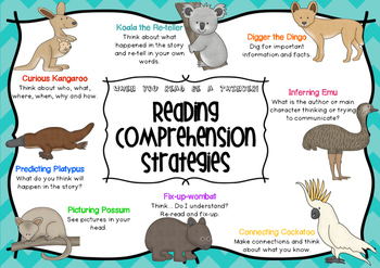 Reading Comprehension Pack with Australian Animals ~ Miss Mac Attack ~