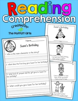 Reading Comprehension Packet! by The Moffatt Girls | TpT