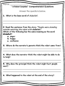 Reading Comprehension Packet 2