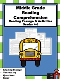 Reading Comprehension Packet- Grades 4-6