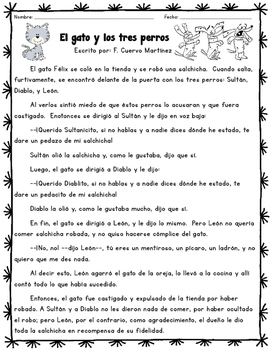 Reading Comprehension Packet (SPANISH)