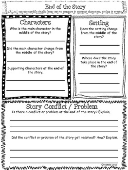 "Reading Comprehension Packet with 5th Grade ""I Can"" statements"