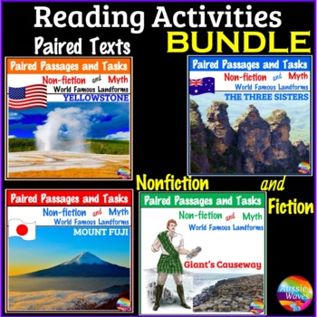 Reading Comprehension Paired Texts &  Activities Myths and Informational BUNDLE