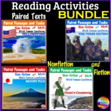 Reading Comprehension Paired Text Activities Fiction Factual BUNDLE
