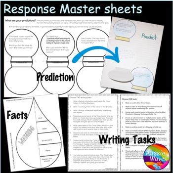Reading Comprehension Paired Texts Myths & Informational Australia Three Sisters