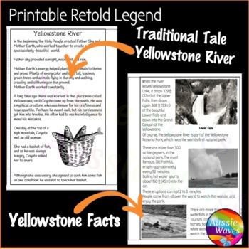Reading Comprehension Paired Texts: Myths and Informational Yellowstone River