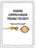 Reading Comprehension Passage