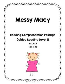 Reading Comprehension Passage