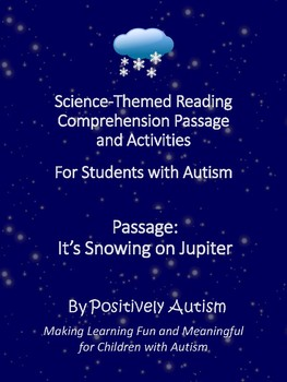 Reading Comprehension Passage, Activities, & Quiz for Special Education/Autism