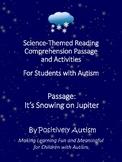 Reading Comprehension Passage, Activities, & Quiz for Spec