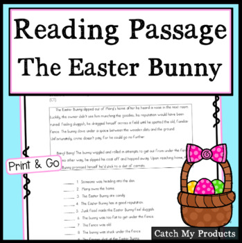 Reading Comprehension Passage : Easter Story to Enhance Accountable Talk