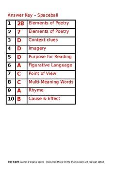 Poem - Reading Comprehension Passage (Free)