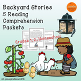 Backyard Stories - 5 Reading Comprehension Passages for Grades 1-2