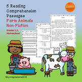 Farm Animals Reading Comprehension Passages Grades 1-2 Non
