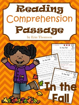 Reading Comprehension Passage ~ In the Fall