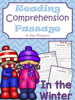 Reading Comprehension Passage ~ In the Winter