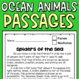 Ocean Animals Reading Comprehension Passages