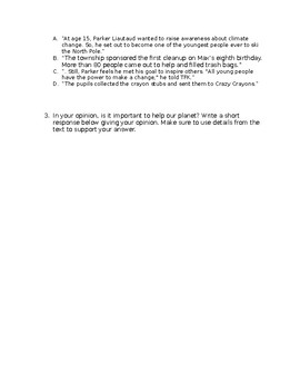 Reading Comprehension Passage & Questions. Informational Text. Great for FSA ELA